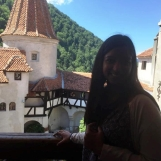 Anjulee at Bran Castle, July 2015