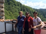 On the terrace at Bran Castle with my nice Indianguests