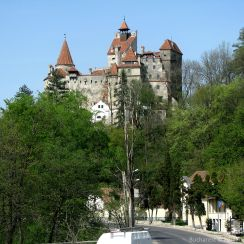 Bran Castle, Transylvania - view from the South
