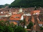 Brasov historic center overview,Romania