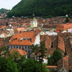 Brasov historic center overview, Romania