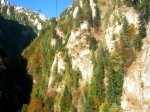 Cable car view Bucegi mountains inSeptember