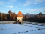 Gate Tower and the first enclosure at Rasnov Citadel,Transylvania