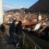 View of the Old Town of Brasov from a vantage point, Transylvania, March 2017