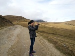 Snapping a picture during trip to Babele Plateau, Bucegi Mountains