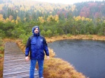 Autumn colors at Mohos Peat Bog Nature Reserve on a rainy day, Oct 2013