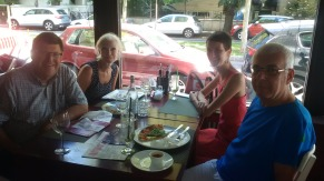 Lunch with Penny and Michael during Bucharest city tour