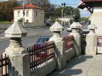 Neo-Romanian style Bellu Church fence pillarsBucharest