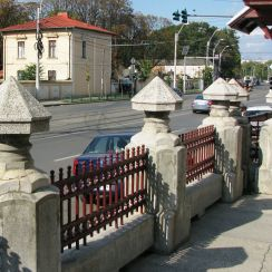 Neo-Romanian style Bellu Church fence pillars Bucharest