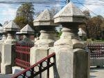 Neo-Romanian style fence pillarsBucharest