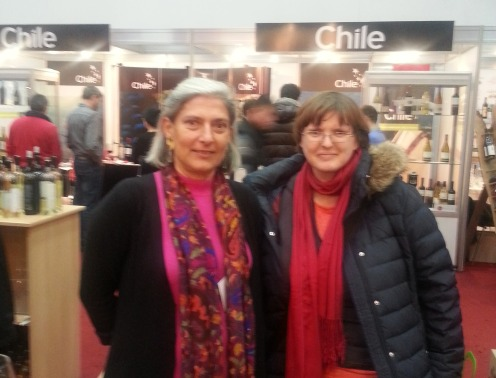 The distinguished lady Ileana Kripp, and yours truly during Bucharest International Wine Fair December 2014