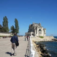 Sea front promenade and the iconic Casino of Constanta