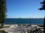 Constanta seafront promenade, view to thesea