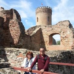 At the Princely Court of Targoviste during tour