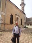 Charming gentleman, guest of my Constanta & Black Sea Coast tour, posing in front of Hunchiar Mosque inConstanta