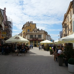 Peaceful afternoon in the old town of Constanta