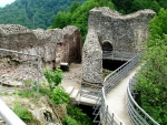 Ruins of the secluded Poienari Citadel, refuge of the legendary Prince VladDracula