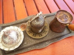 Perfect Traditional Turkish Coffee served with style in Constanta,Romania