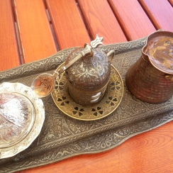 Perfect Traditional Turkish Coffee served with style in Constanta, Romania
