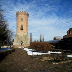 Clear winter morning at Princely Court Museum in Targoviste