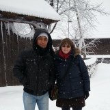 Winter at Village Museum in Bucharest with special guest from Malta, Dec 2014