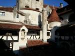 Bran Castle seen from the inner courtyard,Transylvania