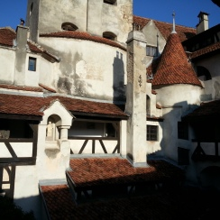 Bran Castle seen from the inner courtyard, Transylvania