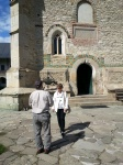 Visitors at Neamt Monastery, Moldova,Romania