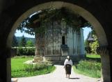 Entering Moldovita Monastery, Bukovina