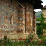 Amazing exterior frescoes at Moldovita Monastery, Bukovina, Romania