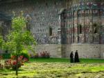 Nuns at Sucevita Monastery, Bukovina,Romania
