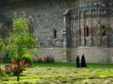 Nuns at Sucevita Monastery, Bukovina
