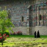 Nuns at Sucevita Monastery, Bukovina, Romania