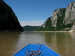 Passing Danube Gorge Iron Gates