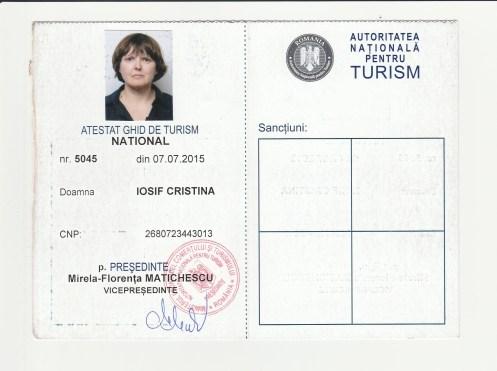 Tour guide licence Cris