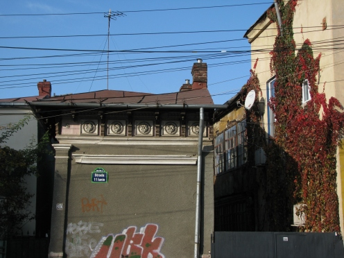 Architectural details houses 11 iunie str Bucharest Nov 2011