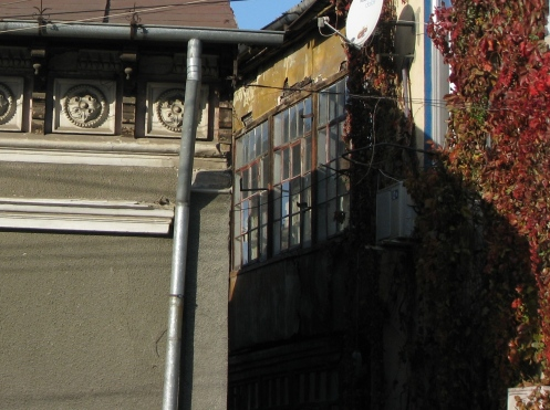 Architectural details houses 11 iunie street Bucharest