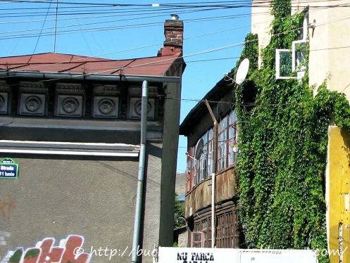Closeup houses 11 iunie street Bucharest Aug 2011