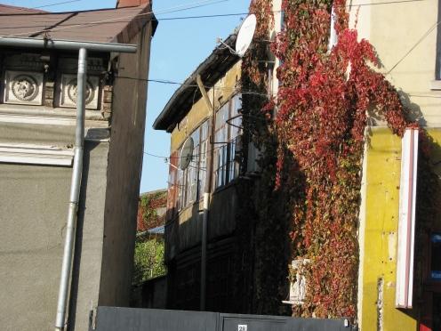 Closeup houses 11 iunie street Bucharest Nov 2011
