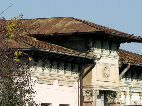 Frieze house facade Bucharest