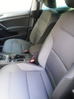 My 2017 Volkswagen Golf front seats