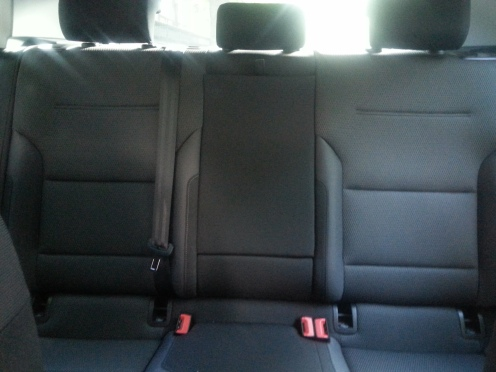 Rear seats 2017 Volkswagen Golf