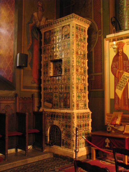 Ceramic stove Silvestru Church Bucharest