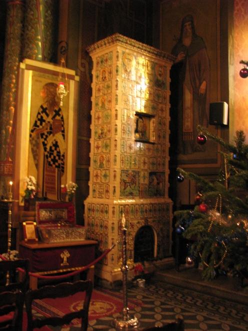 Ceramic stove, Silvestru Church Bucharest