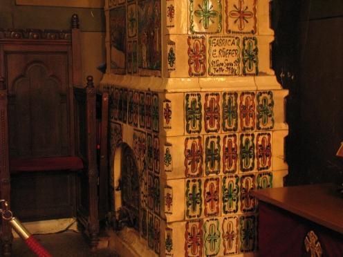 Ceramic stove Silvestru Church