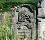 Tombstone in the Jewish cemetery of Siret, northernMoldova