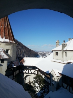 The Bran Castle under Snow