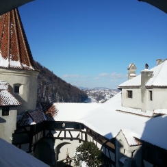Bran Castle under snow