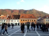 Hustle and Bustle in Brasov Old Town, Transylvania