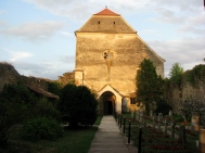 Inside the ruined Cârța Cistercian Abbey, Transylvania